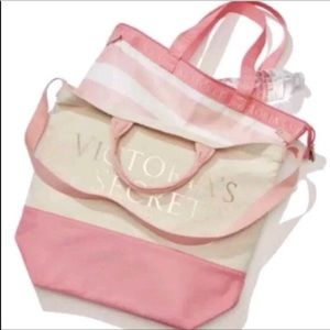 Victoria's Secret Double Canvas Cooler Tote